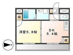 ハウスK&K[1階]の間取り