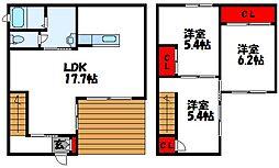 [一戸建] 福岡県古賀市花見東2丁目 の賃貸【/】の間取り