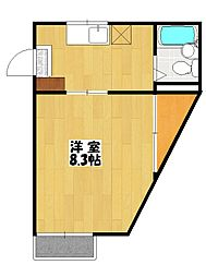 千葉県船橋市東中山1丁目の賃貸アパートの間取り