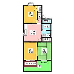 シャトーフルリール C棟[2階]の間取り