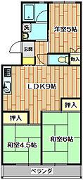 第1石田マンション[1階]の間取り
