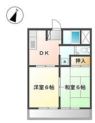 泉区中田南 ビューバレー踊場203号室[2階]の間取り
