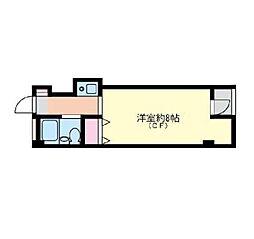 神奈川県横浜市西区霞ケ丘の賃貸マンションの間取り