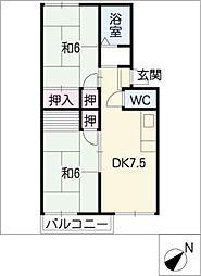 グリーンコーポA・B[1階]の間取り