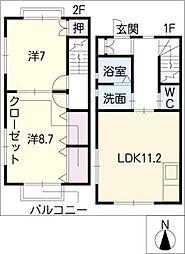 [タウンハウス] 愛知県一宮市城崎通7丁目 の賃貸【/】の間取り