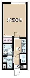 JR常磐線 金町駅 徒歩10分の賃貸アパート 3階1Kの間取り