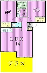 ロワ・ソレイユIII[1階]の間取り