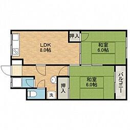 新中条マンション[2階]の間取り
