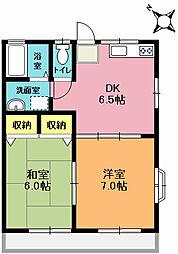 メゾンシマムラB棟[202号室]の間取り