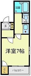 フレグランス阿倍野[2階]の間取り