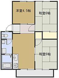 ブラウネハイム[2階]の間取り