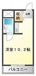 シャトー金沢[3階]の間取り
