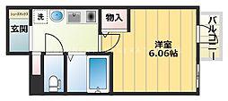 大阪 PRESTIGE ACCOMMODATION 9階1Kの間取り