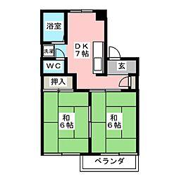 フォレスト飛高 B棟[2階]の間取り