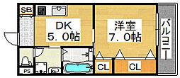 クリエイト彩[4階]の間取り