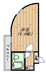 ジュネパレス松戸第31 生活保護受給者支援賃貸マンション[209号室号室]の間取り