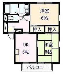 ファミリーズ21 ハイツナカムラ[1階]の間取り