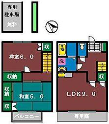 [テラスハウス] 千葉県船橋市二宮2丁目 の賃貸【千葉県 / 船橋市】の間取り