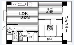 コンフォート北花田[203号室]の間取り