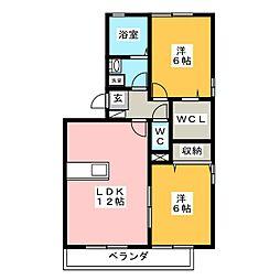 リビングタウン旭川 C棟[2階]の間取り
