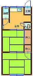 若竹荘[1階]の間取り
