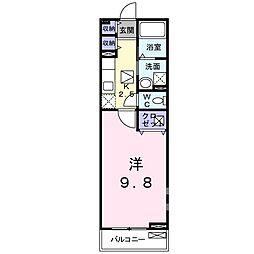 ボヌール レイワA(アパート) 1階1Kの間取り