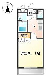 愛媛県松山市保免上2丁目の賃貸マンションの間取り