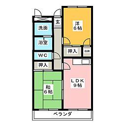 メゾンサンヒル[2階]の間取り