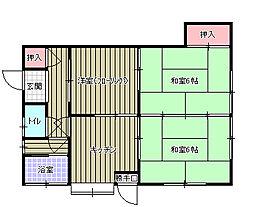 加藤アパート[1FN号室]の間取り