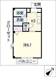 サンパティB棟[1階]の間取り