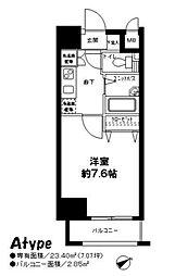 東京都新宿区市谷仲之町の賃貸マンションの間取り