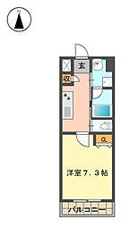 愛知県名古屋市名東区宝が丘の賃貸マンションの間取り