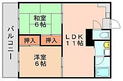 フットワーク空港南[1階]の間取り