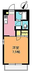 埼玉県上尾市春日2丁目の賃貸アパートの間取り