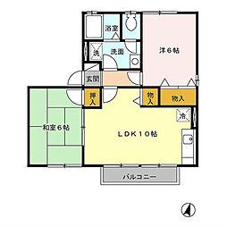 ボナールハイツ[2階]の間取り