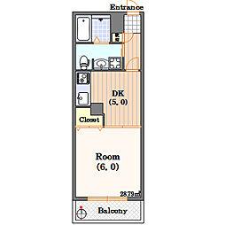 FUKUE BLD[1階]の間取り
