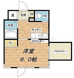 エステムコート心斎橋EASTエリジオン[12階]の間取り