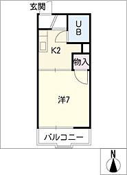 タウニーふじ[1階]の間取り