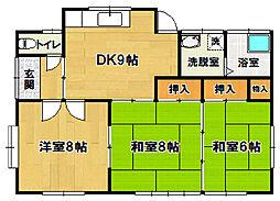 [一戸建] 茨城県つくば市倉掛 の賃貸【/】の間取り