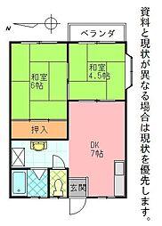 鶴寿荘[2-C号室]の間取り