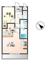 埼玉県さいたま市岩槻区上里1丁目の賃貸アパートの間取り