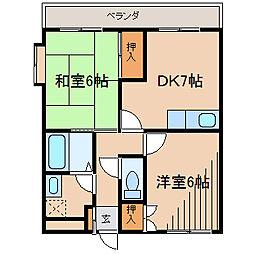 東京都町田市金森東4丁目の賃貸マンションの間取り