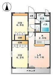 ボンヌールさくら[2階]の間取り