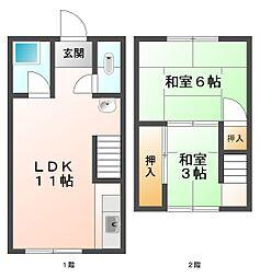 [テラスハウス] 兵庫県神戸市垂水区塩屋町8丁目 の賃貸【/】の間取り