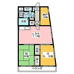 S・T・Rウィスタリアガーデン[3階]の間取り