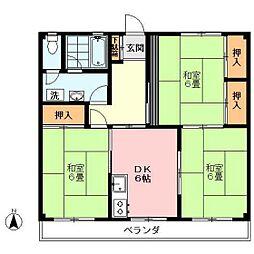 武蔵関アパート1号棟[202号室]の間取り