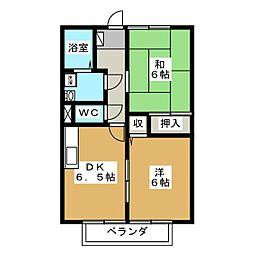 エリアスA[2階]の間取り