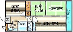 EverGreen泉ヶ丘[1階]の間取り