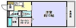 大阪府枚方市長尾谷町3丁目の賃貸アパートの間取り