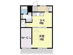愛知県名古屋市名東区猪子石1丁目の賃貸マンションの間取り